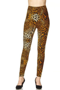 animal print yummy brushed ankle leggings - by 2NE1 - available at rkcollections.myshopify.com -  - Leggings