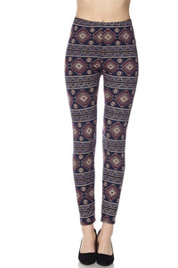 Aztec Tribal Print Ankle Leggings - by 2NE1 - available at rkcollections.myshopify.com -  - Leggings