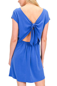 Back Tie Short Sleeve Dress - by HyFve - available at rkcollections.myshopify.com -  - Dress