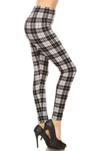 Black and white plaid legging - by Awesome J - available at rkcollections.myshopify.com - ONE SIZE - Leggings