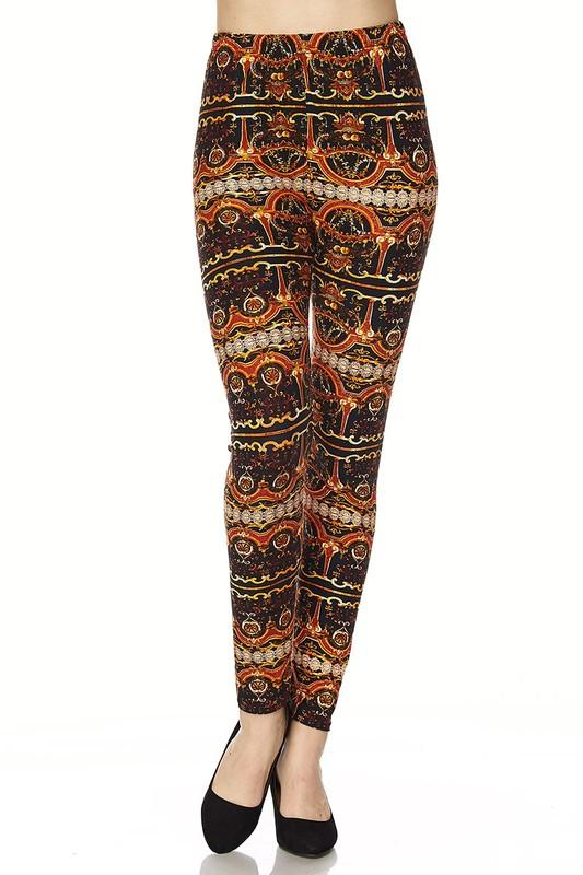brown multi print leggings - by 2NE1 - available at rkcollections.myshopify.com -  - Leggings