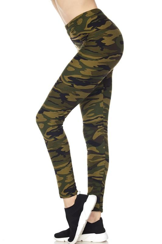 Brushed Camouflage Print Ankle Leggings - by 2NE1 - available at rkcollections.myshopify.com -  - Leggings