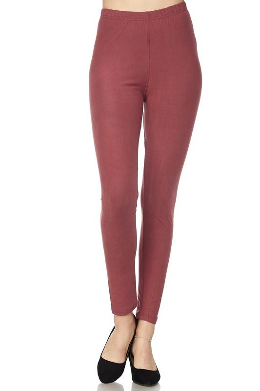 brushed solid ankle legging - by 2NE1 - available at rkcollections.myshopify.com -  - Leggings