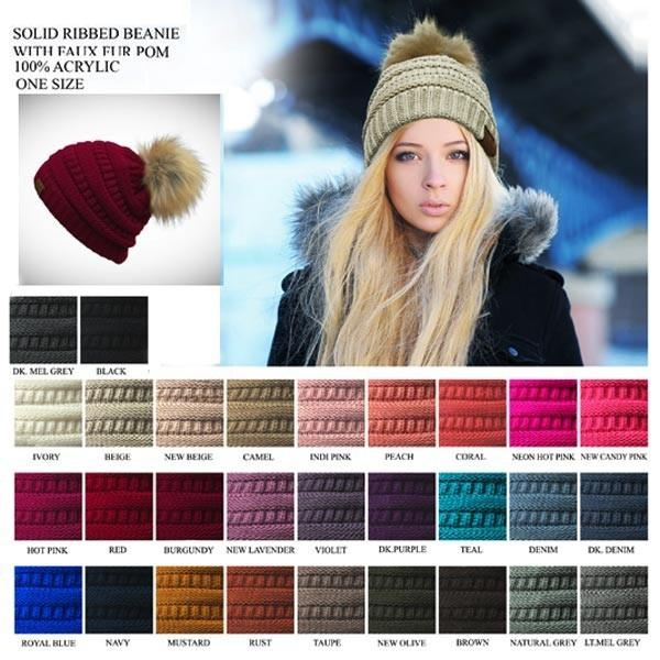 c685adc026a  Cc Beanie Fur Pom Pom - by CC - available at rkcollections.myshopify.