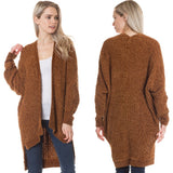 Chenille Open Cardigan - by Love Tree - available at rkcollections.myshopify.com -  - Tops-Cardigan