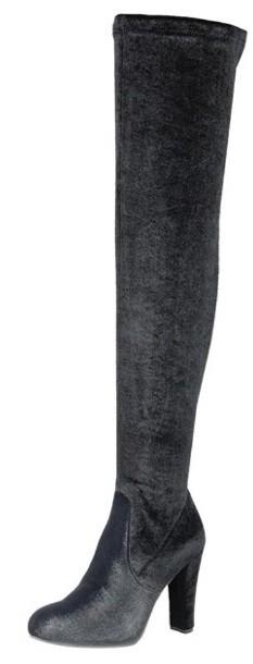 chunky high heel over knee boots - by shoe shoe train - available at rkcollections.myshopify.com -  - Shoe:TallBoot