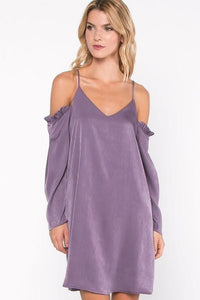 cold shoulder ruffle dress - by Everly - available at rkcollections.myshopify.com -  - Dress-Cold Shoulder