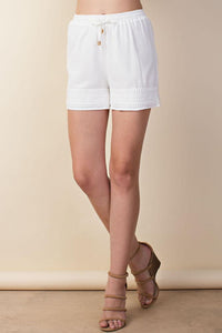 Crochet Trim Shorts - by LLove Show - available at rkcollections.myshopify.com -  - Shorts