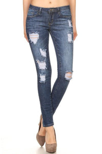 destroyed skinny jeans - by Denim Couture - available at rkcollections.myshopify.com -  - Jeans