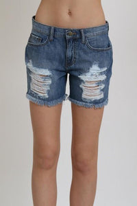 distressed boyfriend short - by 1 Funky - available at rkcollections.myshopify.com -  - Shorts