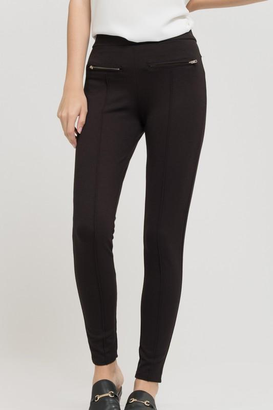 Double Zipper Black Jegging - by Blu Pepper - available at rkcollections.myshopify.com -  - Pants