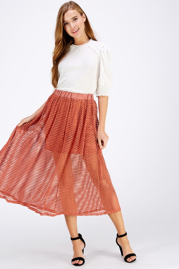 3119-1-Entro-fishnet midi skirt-RK Collections Boutique