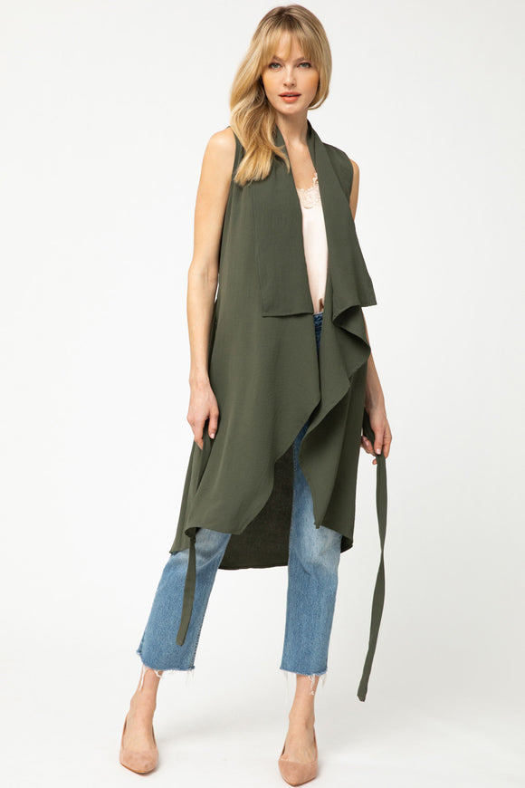 -Entro-Draped duster vest-RK Collections Boutique
