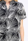 -Entro-Tropical print placket blouse-RK Collections Boutique