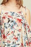 -Entro-Tropical print cold shoulder woven top-RK Collections Boutique