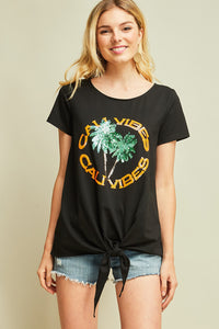 T7901-1-Entro-Sequin Cali tie up tee-RK Collections Boutique
