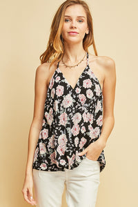 T7943-4-Entro-Floral print wrap tank-RK Collections Boutique
