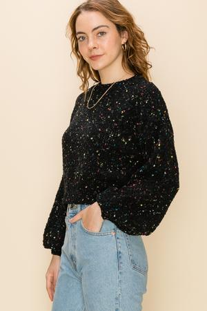 -Favlux-Multi color speckled sweater-RK Collections Boutique