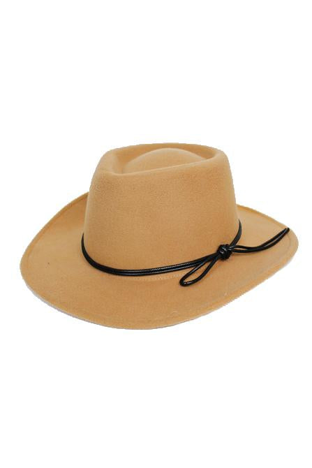Fedora with Black Leather Band - by Cap Zone - available at rkcollections.myshopify.com -  - Accessory:Hat