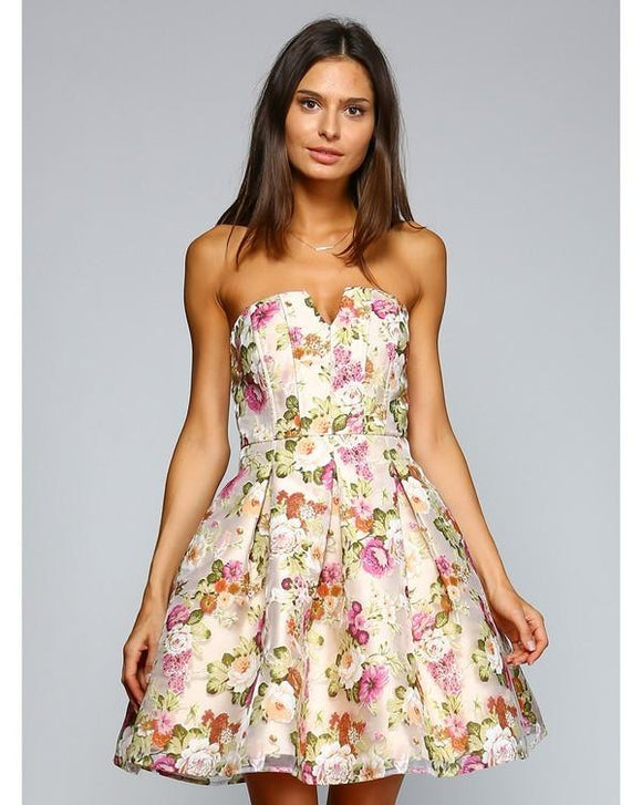 fit and flare floral dress - by minuet - available at rkcollections.myshopify.com -  - Dress