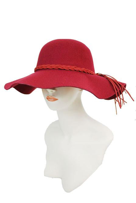 sn-559-Cap Zone-Floppy Hat With Braided Band-RK Collections Boutique