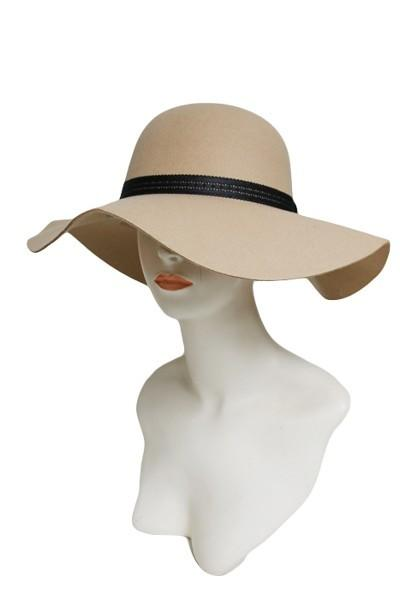 -Cap Zone-Floppy Hat With Flower Patterned Faux Leather Band-RK Collections Boutique