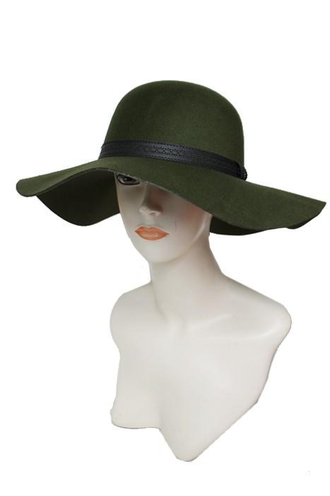 floppy hat with flower patterned faux leather band - by Cap Zone - available at rkcollections.myshopify.com -  - Accessory:Hat