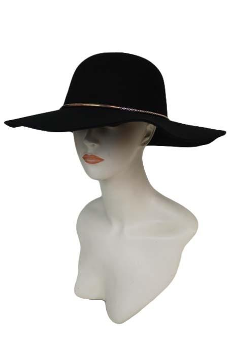 Floppy Hat with Gold String Band - by Cap Zone - available at rkcollections.myshopify.com -  - Accessory:Hat