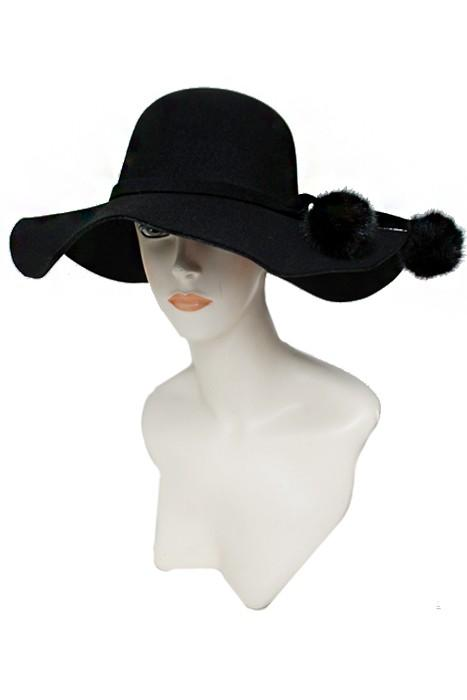 SN750-Cap Zone-Floppy Hat With Pom Poms-RK Collections Boutique