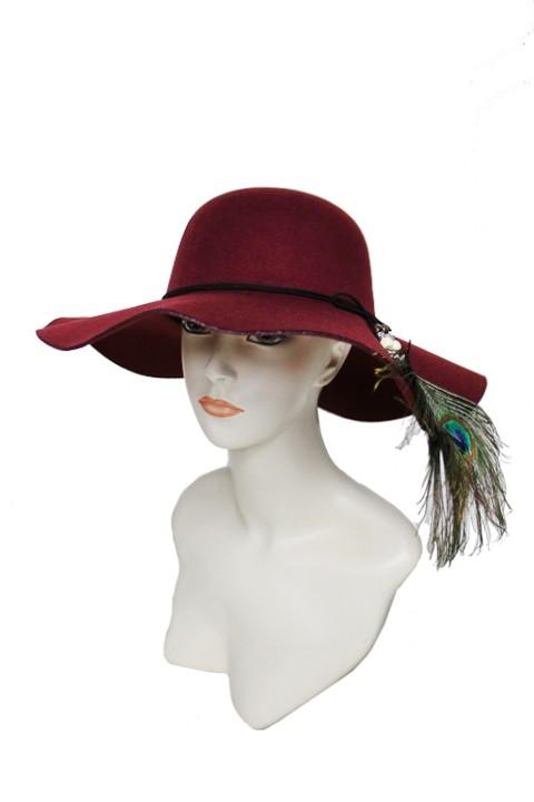 floppy hat with suede band and feather - by Cap Zone - available at rkcollections.myshopify.com -  - Accessory:Hat