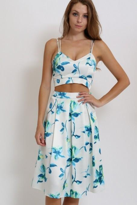 floral full skirt - by 1 Funky - available at rkcollections.myshopify.com -  - Skirts