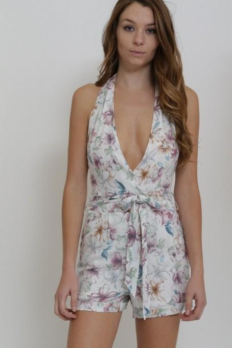 floral halter romper - by 1 Funky - available at rkcollections.myshopify.com -  - Romper