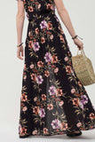 floral maxi skirt with slit - by Blu Pepper - available at rkcollections.myshopify.com -  - Skirts