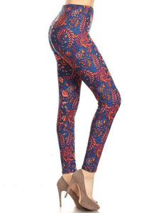 Floral Print Legging - by Red Ribbon - available at rkcollections.myshopify.com - ONE SIZE - Leggings