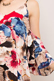 -Entro-Floral print open-shoulder shift dress-RK Collections Boutique