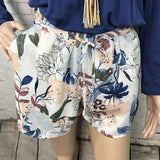 Floral Satin Drawstring Shorts - by Doe & Rae - available at rkcollections.myshopify.com -  - Shorts