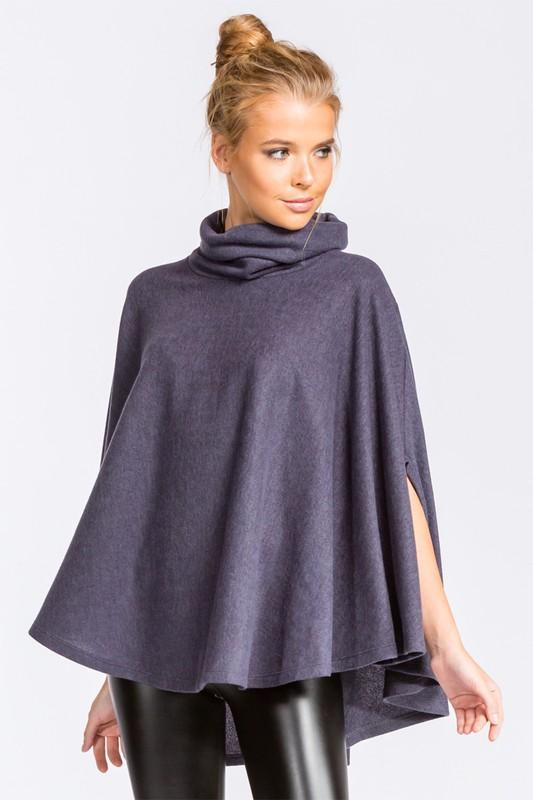 30bd5005f6b197 ... french terry circle poncho top - by Cherish USA - available at  rkcollections.myshopify. ...