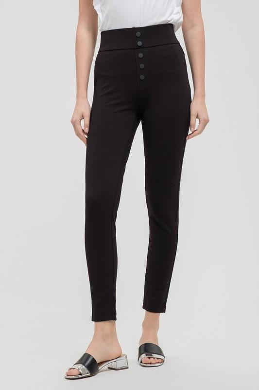 High Waist Multi Button Jegging - by Blu Pepper - available at rkcollections.myshopify.com -  - Pants