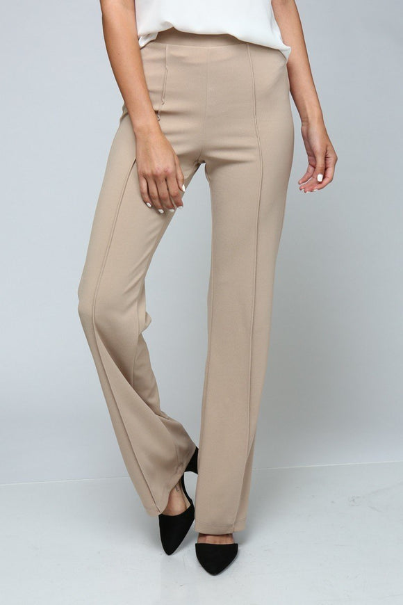 High waisted pants with pleating detail - by Timing - available at rkcollections.myshopify.com -  - Pants