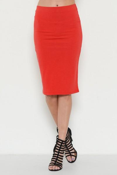 jersey knee length pencil skirt - by Hearts & Hips - available at rkcollections.myshopify.com -  - Skirts