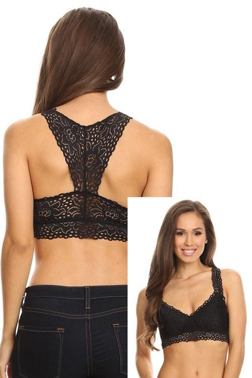 Lace racerback bralette - by Anemone - available at rkcollections.myshopify.com -  - Bralette