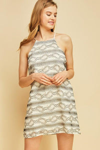 D7061-N-S-Entro-Lace sleeveless shift dress-RK Collections Boutique