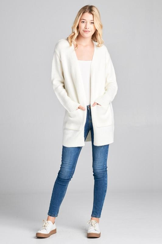... LONG SLEEVE OPEN FRONT w POCKET TUNIC SWEATER CARDIGAN - by Active  Basic - available ... 5757f3023