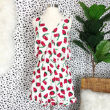 R7845-1-Entro-Strawberry sleeveless romper-RK Collections Boutique