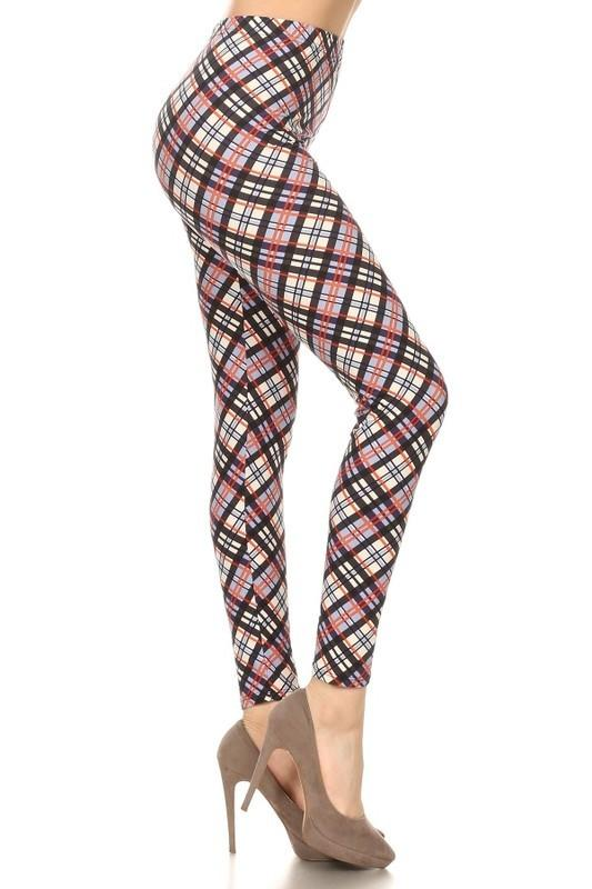 F653-Awesome J-Multi plaid legging-RK Collections Boutique