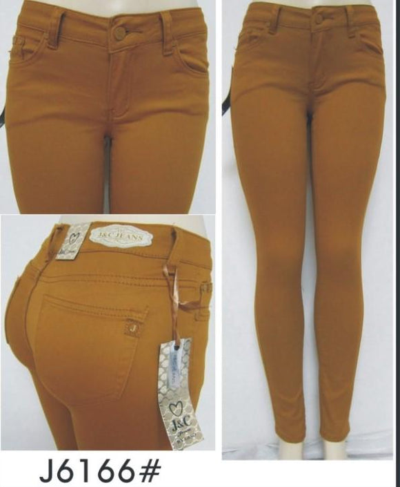 Mustard Skinny Jeans - by J&C - available at rkcollections.myshopify.com -  - Jeans