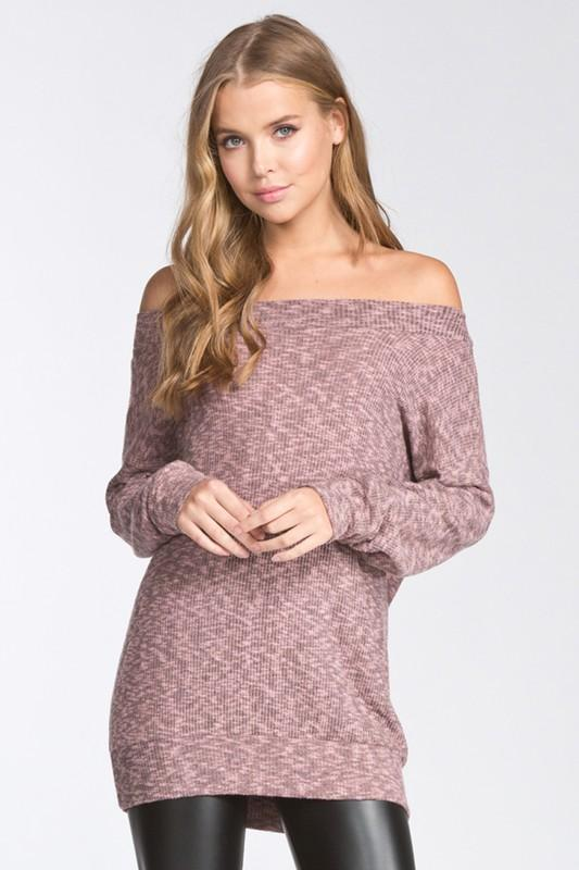 off shoulder long sleeve top - by Cherish USA - available at rkcollections.myshopify.com -  - Tops