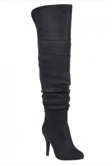 over knee high stiletto heel boots - by Forever - available at rkcollections.myshopify.com -  - Shoe:TallBoot