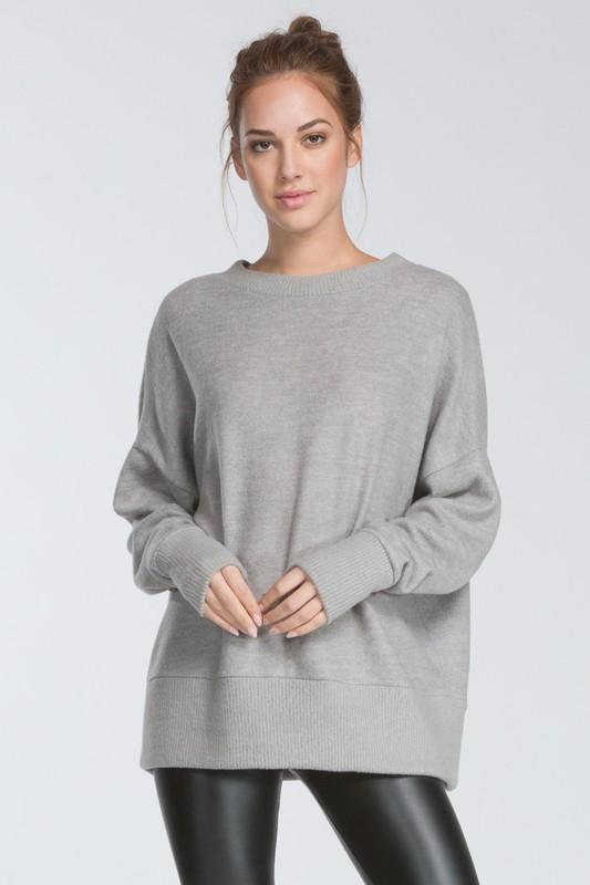 oversized drop shoulder long sleeve top - by Cherish USA - available at rkcollections.myshopify.com -  - Tops