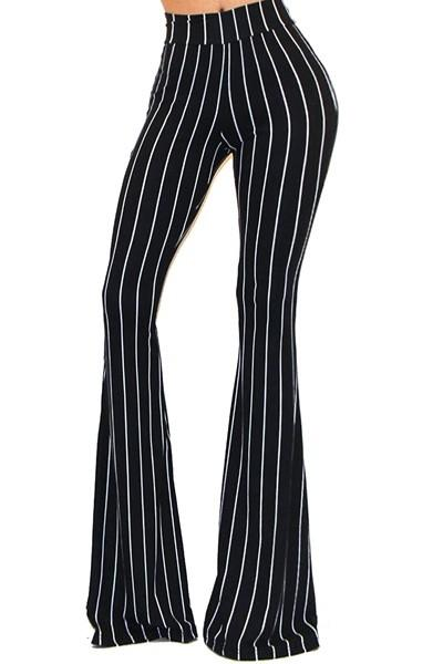 Pinstripe bell bottom pants - by Got Style - available at rkcollections.myshopify.com -  - Pants